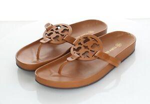 63-52 $228 Women's Sz 9.5 M Tory Burch Miller Cloud Leather Logo Sandals
