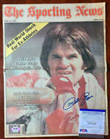 Pete Rose PSA DNA Coa Hand Signed 1979 Vintage Sporting News Cover Autograph