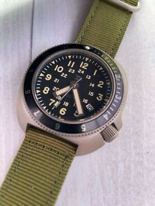 TC-9  TITANIUM Automatic Divers Watch - 300m WR - Seiko Movement. Turtle Design