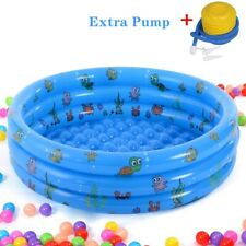 Summer Home Kids Baby Swimming Pool Inflatable Bathing 3 Layer Bathtub Water Fun