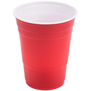 16oz Plastic Red Party Cups (Beer Pong) - Disposable 20/60 USA MADE
