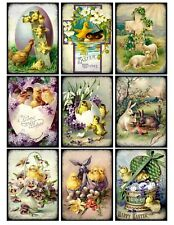 9 Easter Vintage Victorian Hang Tags Scrapbooking Paper Crafts (209)