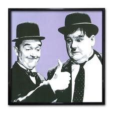 Laurel and Hardy Print. Classic Comedy Duo Poster Decor Purple Warhol Pop Art