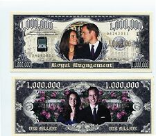 WILLIAM & KATE ROYAL ENGAGEMENT & WEDDING SET 2BILLS MILLION DOLLAR  BILL