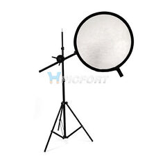 Pro Photography Photo Studio Reflector Disc Holder Arm with Stand Kit