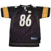 Vintage Reebok Hines Ward Pittsburgh Steelers Youth XL Black Football Jersey