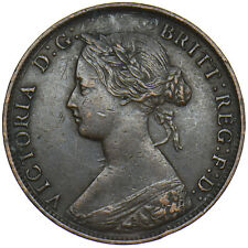 More details for 1861 halfpenny - victoria british bronze coin - nice