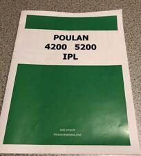 Poulan 4200 5200 Parts Manual IPL