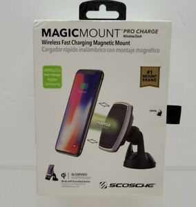 Scosche MagicMount Pro Charge Wireless Fast Charging magnetic Window/Dash Mount