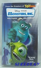 Disney Pixar Monsters Inc VHS Movie 23967  2002 Clam Shell Very Good Condition