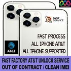 FAST FACTORY UNLOCK SERVICE FOR AT&T iPhone 13 Pro Max 12 11 Xs Max Xr X 8 7 SE
