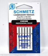 Schmetz Chrome Embroidery Needle 5 ct, Size 90/14