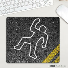 Crime Scene Body Mousepad Mauspad tapis de souris Muismat für Apple Windows NYPD