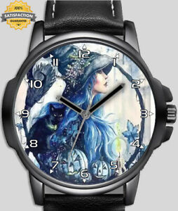 Pumpkin Witch And The Halloween  Unique Unisex Beautiful Wrist Watch UK FAST