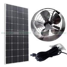 65W Attic Ventilator Kit Roof 3000Cfm Vent Attic Fan + 100W 12V Mono Solar Panel