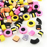 20 Candy Beads 2 Sided Perfect for All Sorts of Clay Fun - BD736