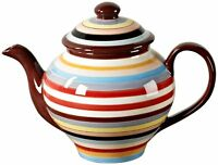 Two and a Half Men Charlie Tabletop Lifestyles 75-Ounce Tea Pot Sedona Stripe