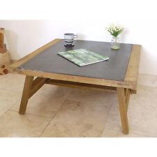 INDUSTRIAL RETRO VINTAGE RECLAIMED WOOD METAL COFFEE TABLE (DX3978)