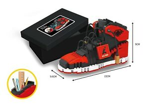 Brand New Red and Black Air Jordan Retro High Sneakers Lego Building Blocks