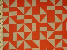 Sunbrella Maharam Regatta Parasol Abstract Geometric Orange Upholstery Fabric