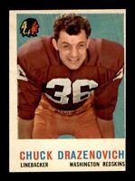 1959 Topps Football Set Break # 172 Chuck Drazenovich NM *OBGcards*
