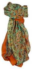 Classic Paisley Square Scarf Mulberry Silk Balay Marigold by Pashmina & Silk