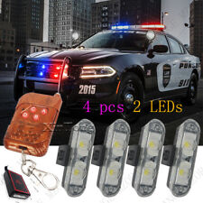 4X2 LED Red Blue White Amber Emergency Strobe Flashing Light Wireless Remote
