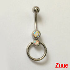 Double Gem AB Pearlescent with Ring