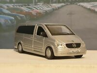 PERSONALISED MERCEDES BENZ VITO SILVER 1.32 MODEL CAR BOXED NEW BOYS TOYS GIFT