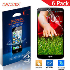 6X Nacodex HD Clear LCD Screen Protector Shield Guard Cover Film For LG G2