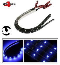 4X 15 LED Flexible Strip Blue Lights 3528 SMD IP65 Waterproof -12V Car Home 30cm