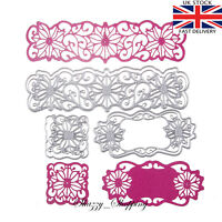 6 Piece Lace Panel Tag Border metal cutting die cutter UK seller Fast Posting