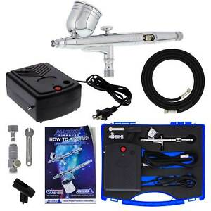 Master G23 Gravity Feed Airbrush Kit Mini Air Compressor, Hobby Craft Art Cake