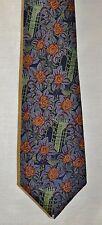 Necktie by Vanzon Floral Multi-Color 100% Thai Silk. See 5 picture's