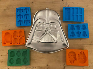 Star Wars Darth Vader Cake Tin LFL Ice Chocolate Silicone Moulds R2D2 Boba Fett