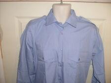 Mens/boys long sleeve BLUE office pilot shirt Epaulettes Security/doorman/cadet