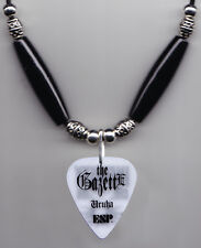 The GazettE Uruha White Guitar Pick Necklace - 2014 Tour