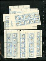 US Rare 8 Ruhleben VF OG NH Mint 3/4D Express Sheets Of 10