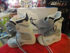 BURTON Tribute Womens Snowboarding Boots light blue gray Size 7 with box