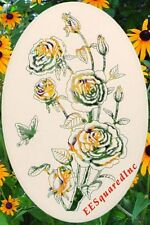 Roses Static Cling Window Decals OVAL 15x23 Floral Rose Glass Door Decor NEW