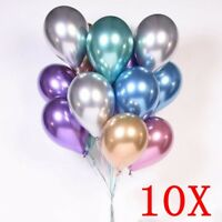 "10p 10"" Chrome Balloons Bouquet Birthday Party Decor  Wedding Shiny IL"