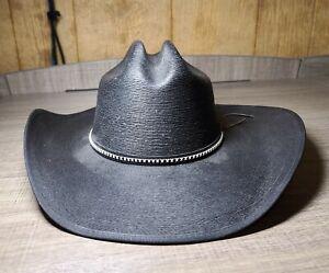 Jason Aldean Men's Asphalt Straw Cowboy Hat (Resistol Size L)