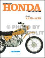 Honda SL70 Motosport Shop Manual 1971-1972-1973 SL 70 Motorcycle Repair Service