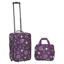 Rockland Rio 2pc Carry On Luggage Set - Purple Pearl