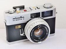 Vintage MINOLTA Hi-Matic E - 35mm Camera with Attached Rokkor-QF f1.7 40mm Lens