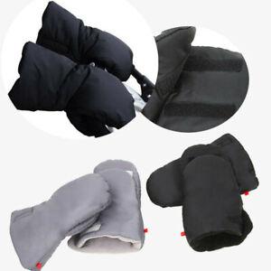 UK Winter Mittens Pram Pushchair Warm Gloves Hand Muff Waterproof Stroller Glove
