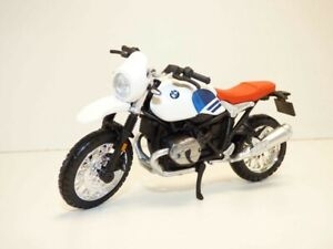 MOTO BMW R NINE T URBAN GS blanc 1/18