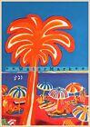 French Riviera Mid Century Modern Art Vintage Poster Print Retro 1990s