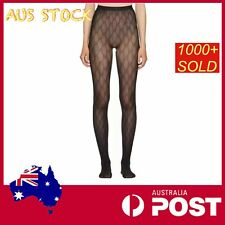 Double GG Black Sheer Stockings Vintage fishnet tech tights pantyhose print sexy