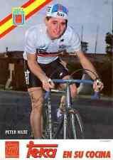 PETER HILSE Team TEKA 1986 Signed Autograph cycling Signé cyclisme autogram